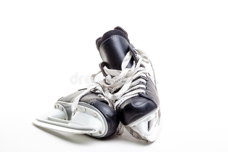 Une paire de patins de hockey sur glace photo libre de droits