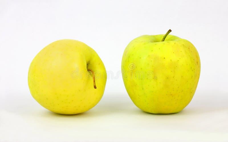 Une paire de pommes golden delicious photos stock