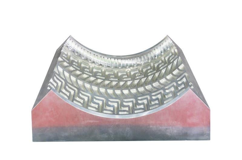 Une part du moule métallique pour le bâti de pneu en caoutchouc d'injection pour industriel de transport fait à partir du centre  images libres de droits