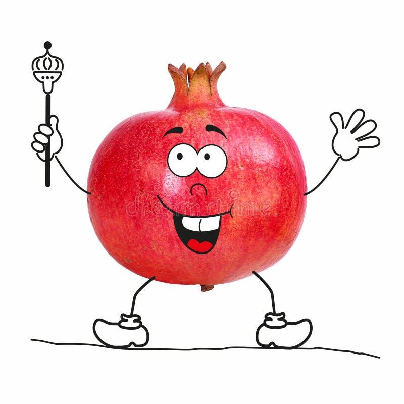 Une partie d'une collection de fruit comme personnage de dessin animé illustration stock