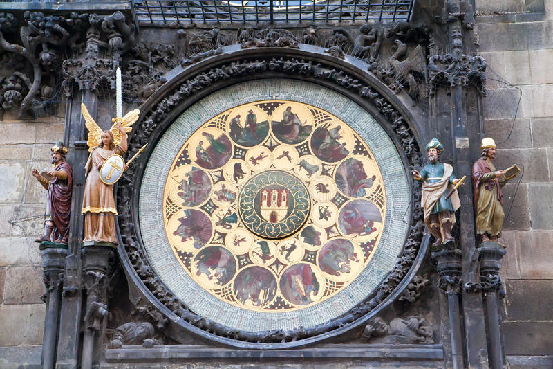 Une partie d'horloge de Prague images stock