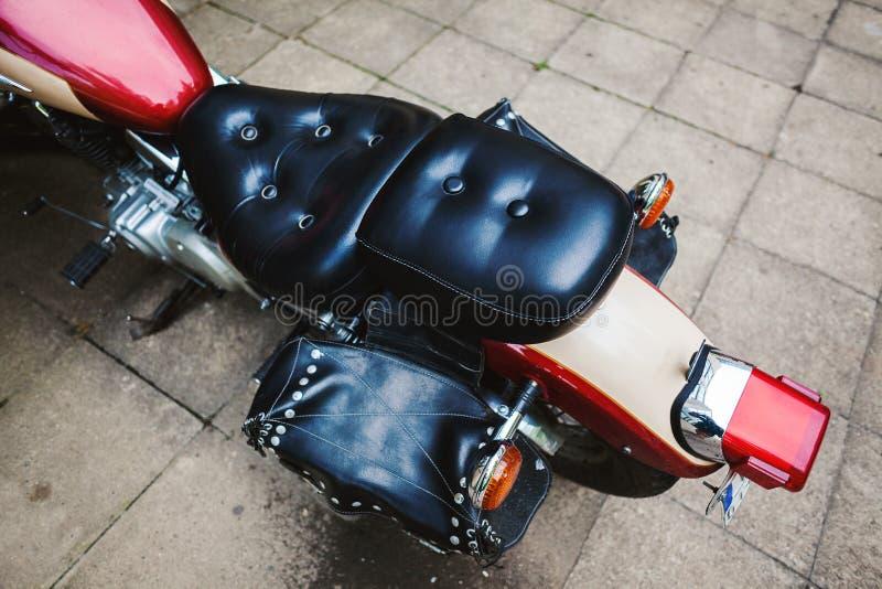 Une partie d'une rétro motocyclette photo libre de droits