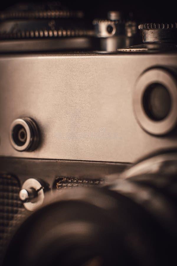 Une partie d'un appareil-photo très vieil de film photographie stock libre de droits