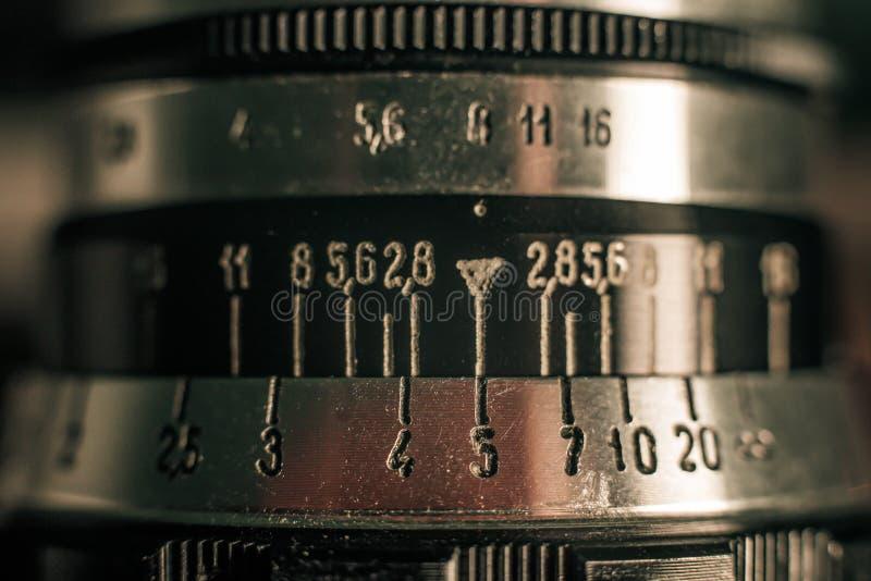 Une partie d'un appareil-photo très vieil de film images libres de droits
