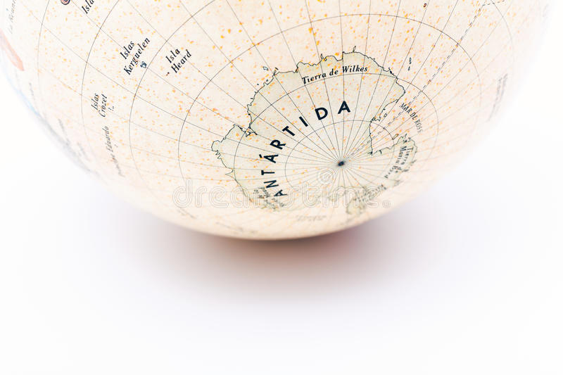 Une partie d'un globe de la terre photos stock