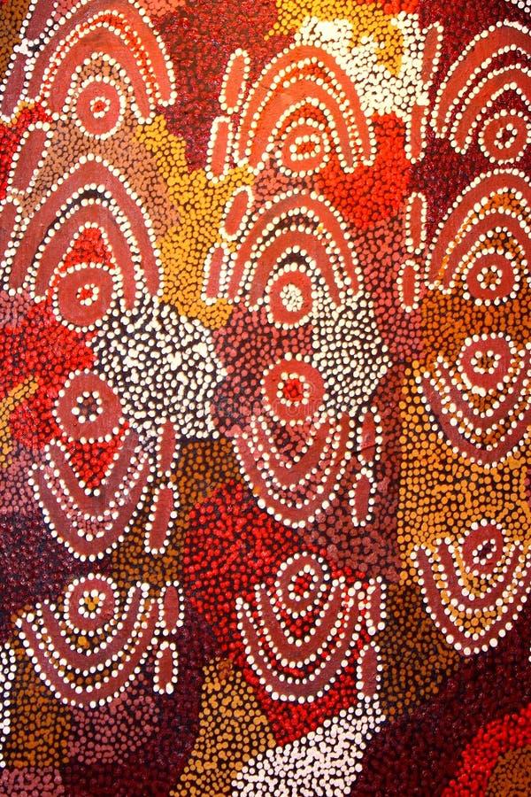 Une partie d'une illustration indigène abstraite et antique, Australie photographie stock libre de droits