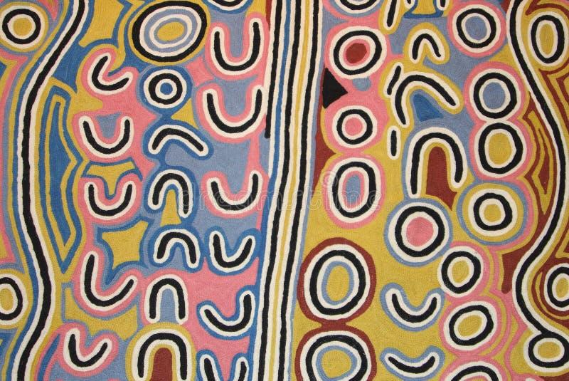 Une partie d'une illustration indigène dans le musée, Utrecht, Pays-Bas image stock