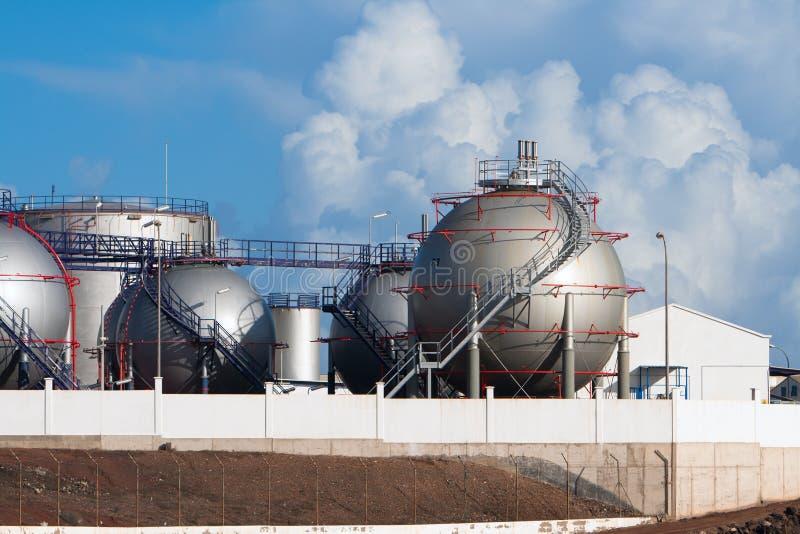 Une partie d'usine de dessalement à Lanzarote images stock