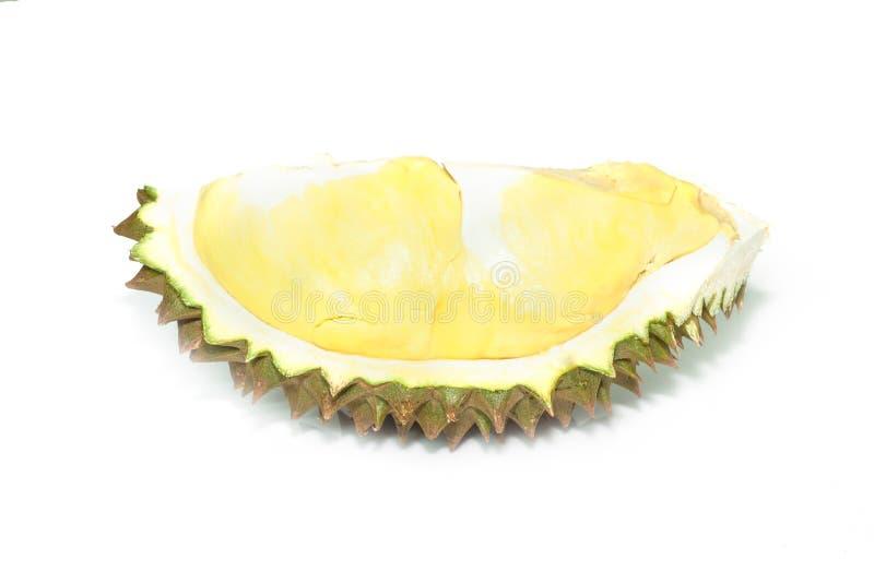 Une partie de durian mûre avec des transitoires images stock