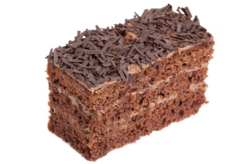 Une partie de gâteau de chocolat photographie stock libre de droits