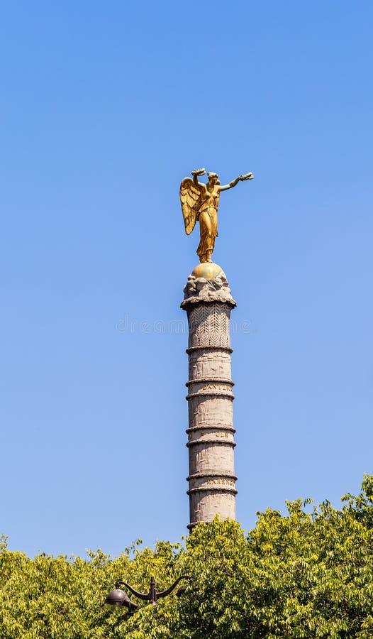 Une partie de la fontaine du Palmiere, endroit Chatelet, Paris images libres de droits