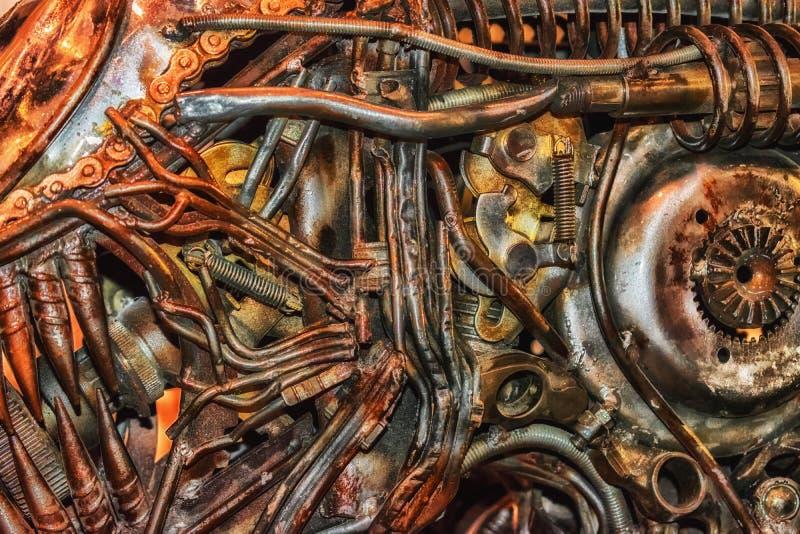 Une partie de la sculpture 1 en métal photo libre de droits