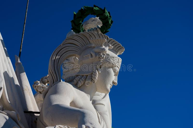 Une partie de la statue de la bravoure et du génie rewarding de gloire photo stock
