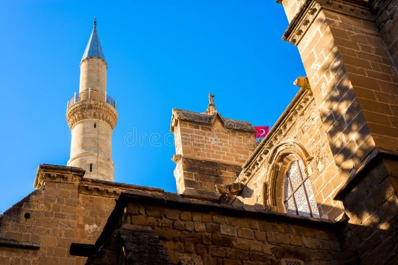 Une partie de mosquée de Selimiye Nicosia, Chypre images libres de droits