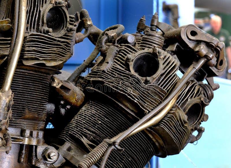 Une partie de moteur radial détruit d'avions images libres de droits