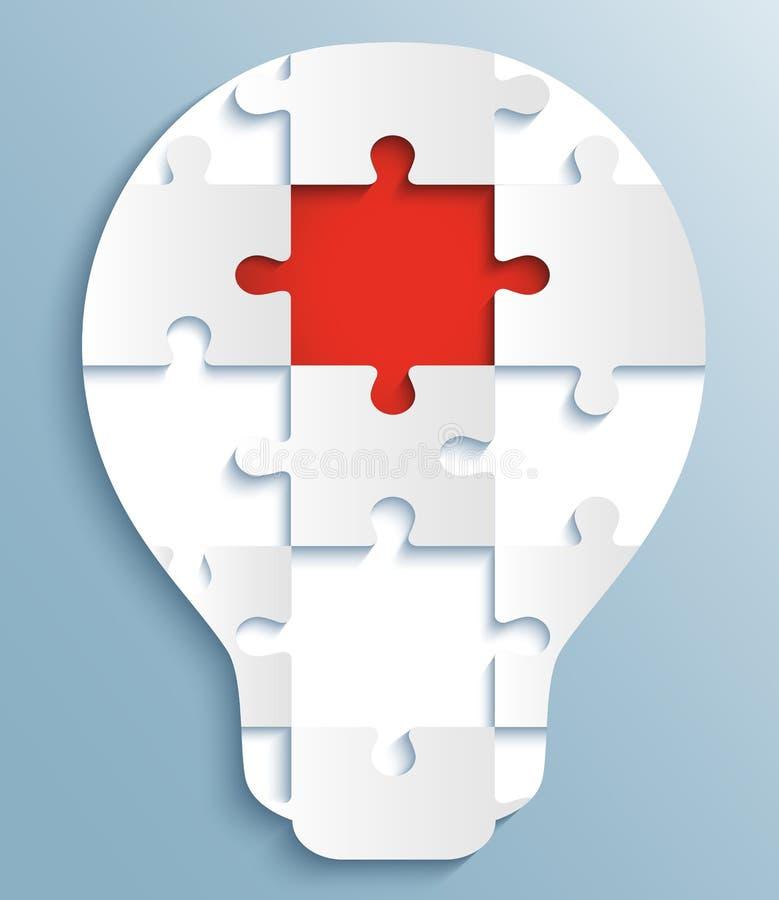 Une partie de puzzles sous forme d'ampoules. illustration stock