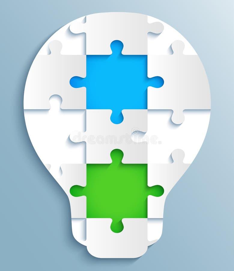 Une partie de puzzles sous forme d'ampoules. Creati illustration de vecteur
