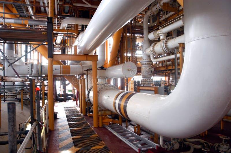 Une partie de raffinerie images stock