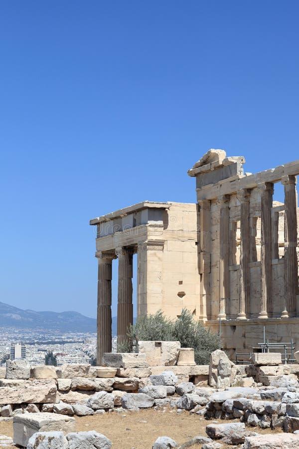 Une partie de temple antique d'Erechtheum photos libres de droits