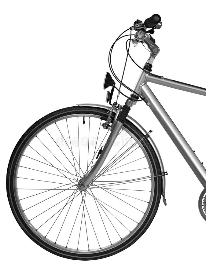 Une Partie De Vélo D Isolement (chemin De Découpage) Images libres de droits