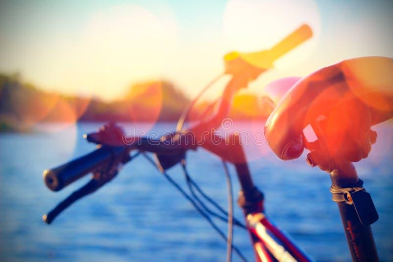 Une partie de vélo de montagne photo libre de droits