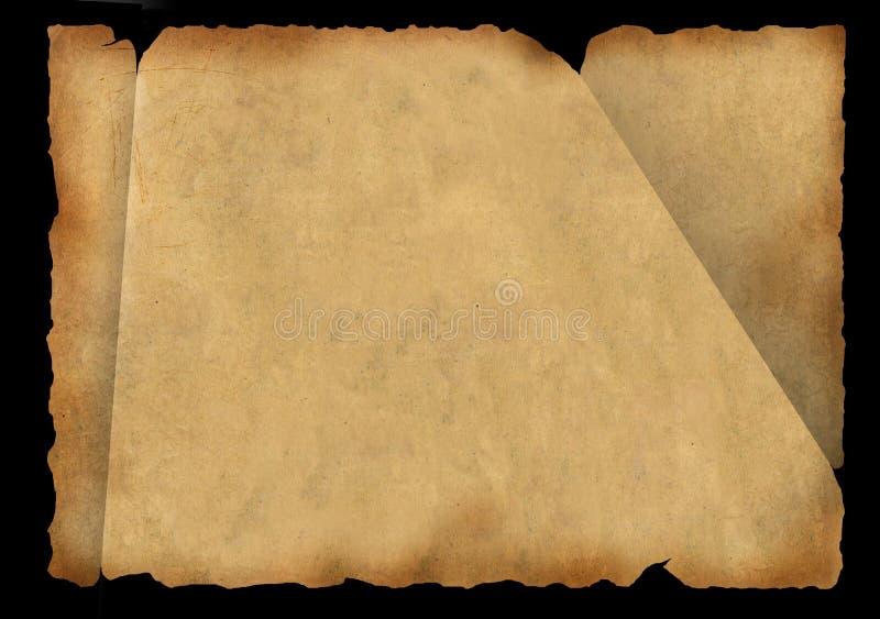Une partie de vieux, fragmentaire parchemin illustration libre de droits