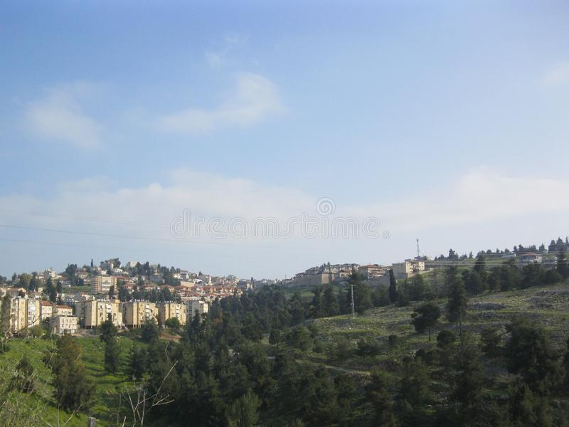 Une partie de Ville Sainte de Safed photo libre de droits