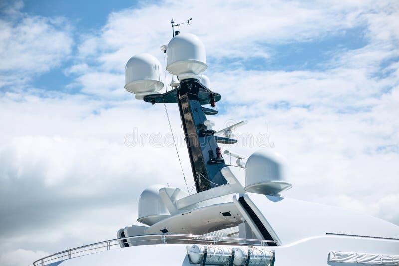 Une partie du bateau ou le navire ou le yacht photo libre de droits
