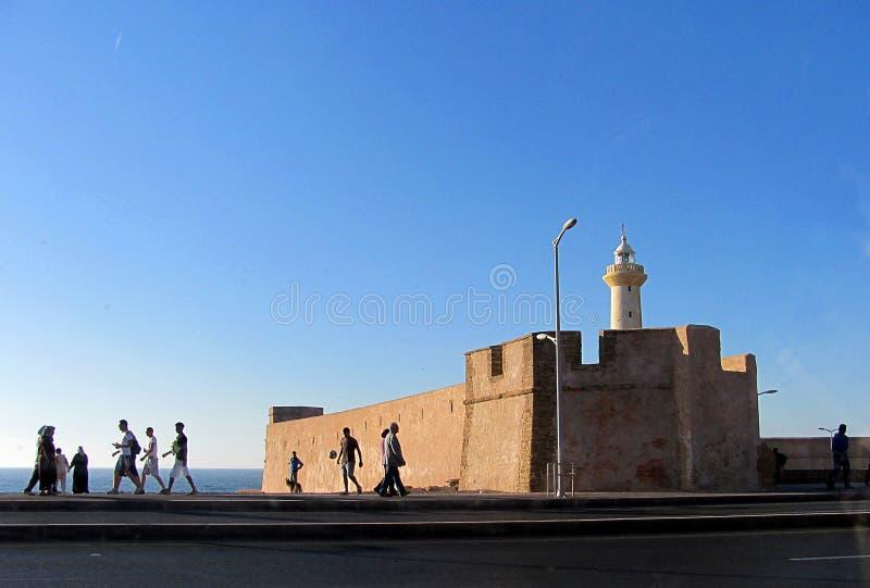 Une partie du vieux mur de ville à Rabat, Maroc photographie stock libre de droits