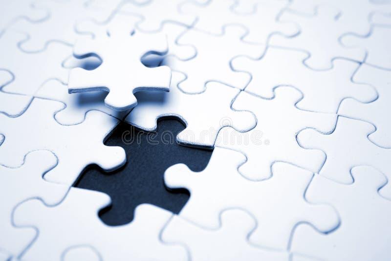 Une partie finale de puzzle photos libres de droits