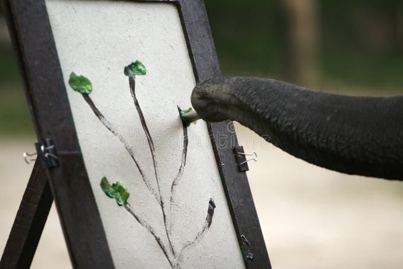 Une peinture d'éléphants photo stock