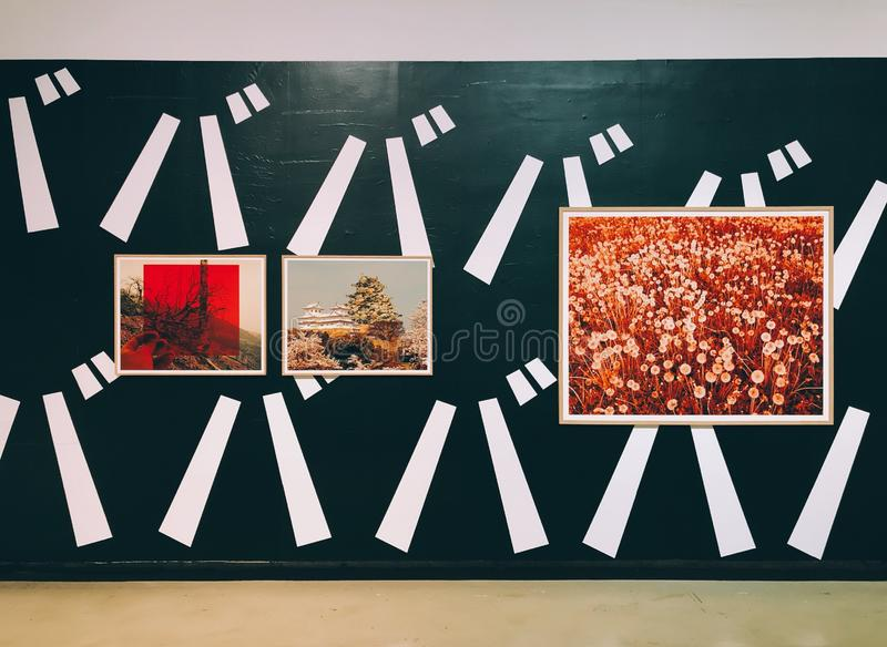 Une peinture de paysage dans le GRENIER d'OCT. de Shenzhen image stock