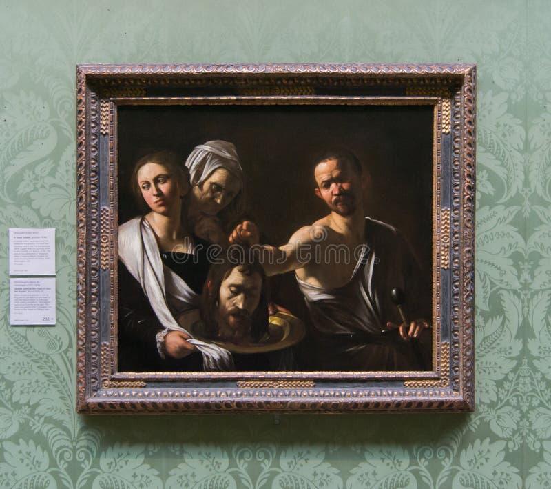 Une peinture par Michelangelo Merisi da Caravaggio dans le National Gallery à Londres images libres de droits
