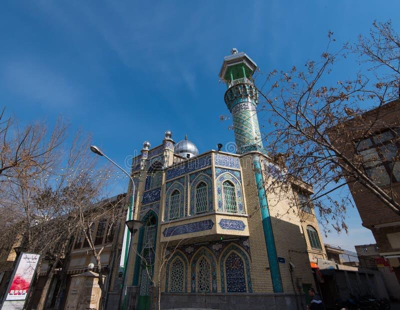 Une perspective a tiré d'une des nombreuses mosquées à Téhéran, Iran images stock