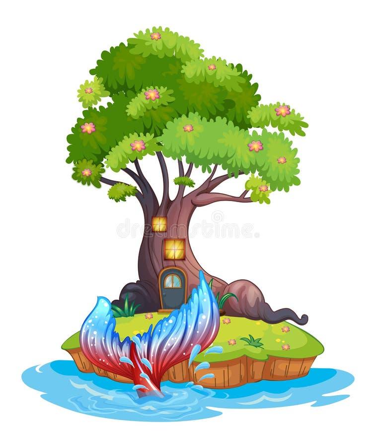 Une petite île illustration de vecteur