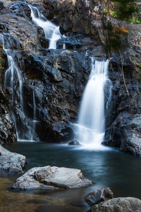 Une petite cascade en beau parc photo stock
