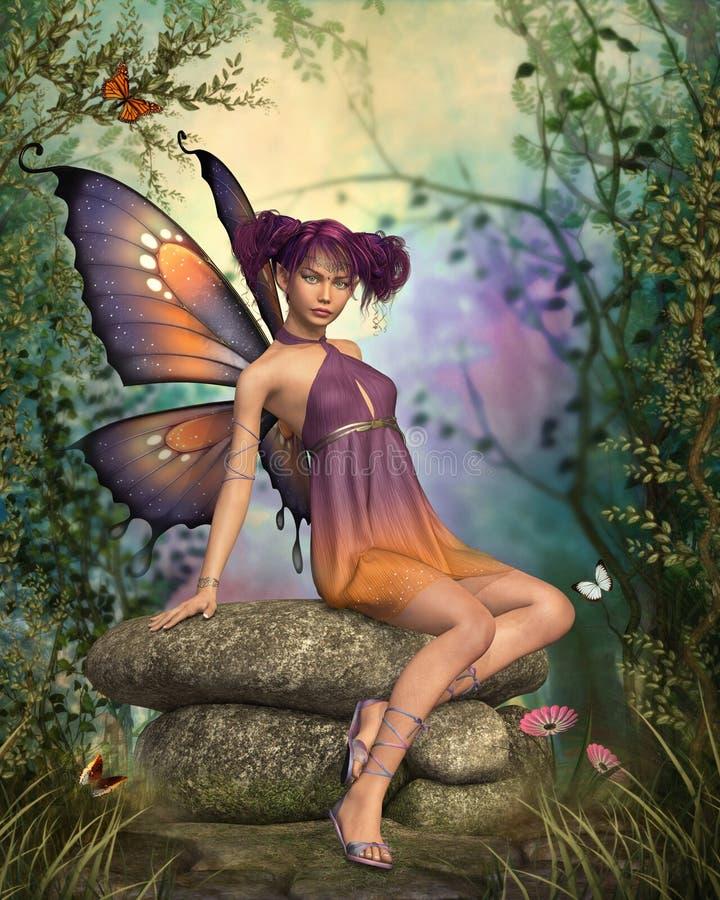 Dans la forêt de conte de fées illustration stock