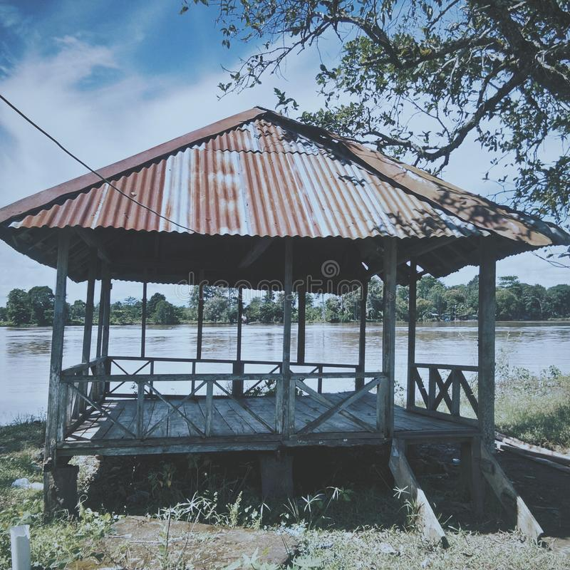 une petite hutte simple photo stock