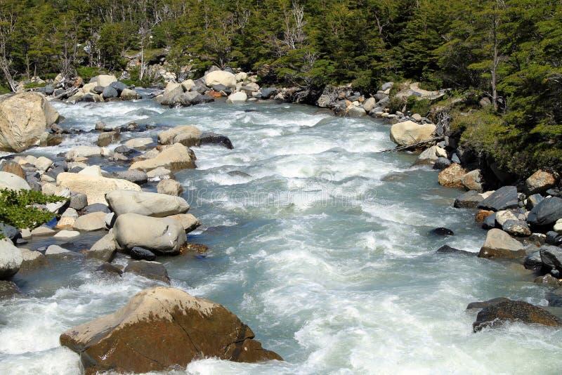 Rivière de Patagonia photographie stock libre de droits