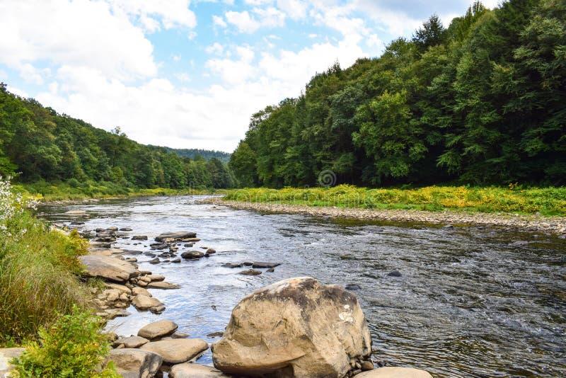Une petite rivière en Pennsylvanie photographie stock libre de droits