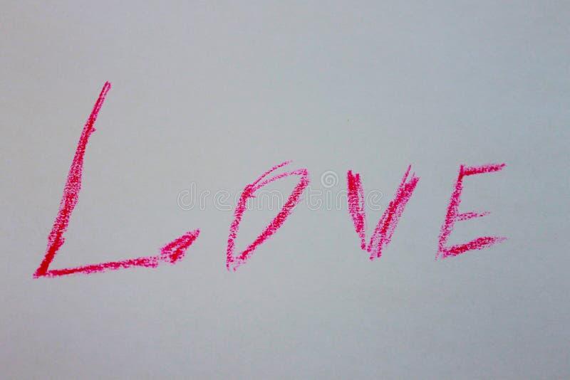 Une photo d'une de l'amour de mot images libres de droits