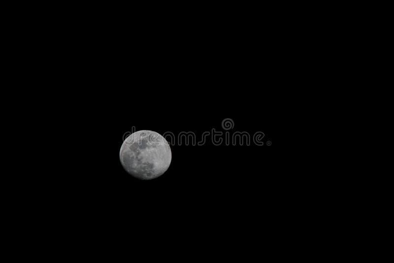 Une photo de la lune photographie stock