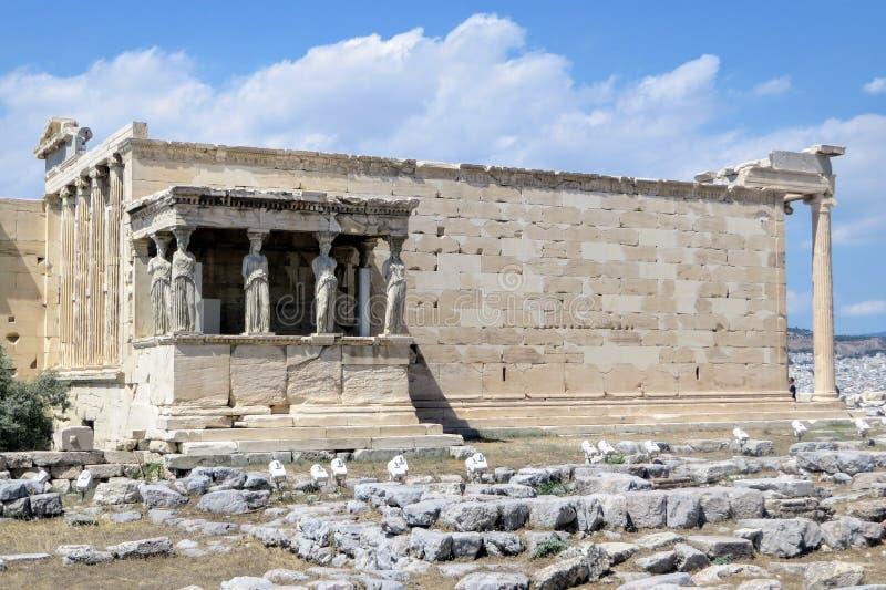 Une photo du vieux temple d'Athéna placé sur l'Acropole, Athènes, Grèce photographie stock libre de droits