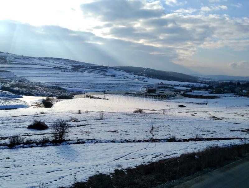 Une photo en hiver photos stock