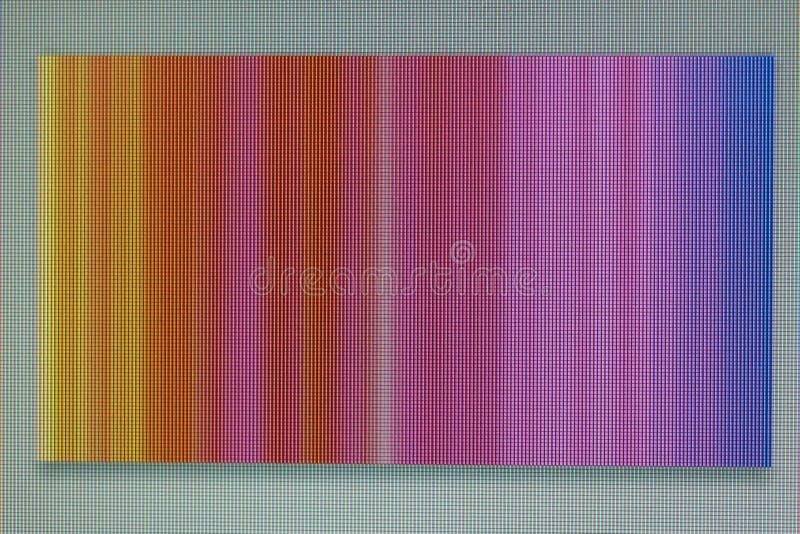 Une photographie d'un bruit rayé coloré chaotique sur le moniteur s image libre de droits