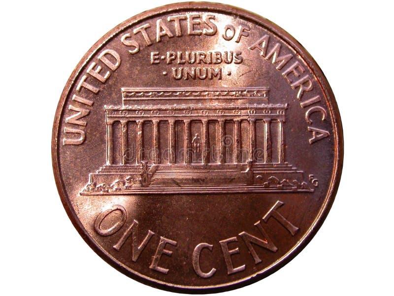 Une pièce de monnaie de cent image stock