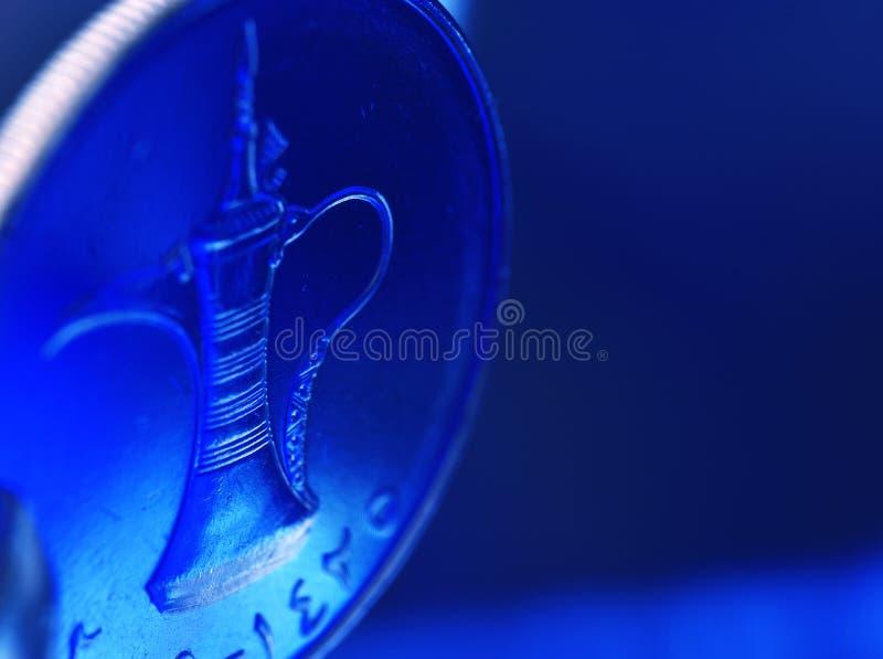 Une pièce de monnaie de dirham des EAU photo stock