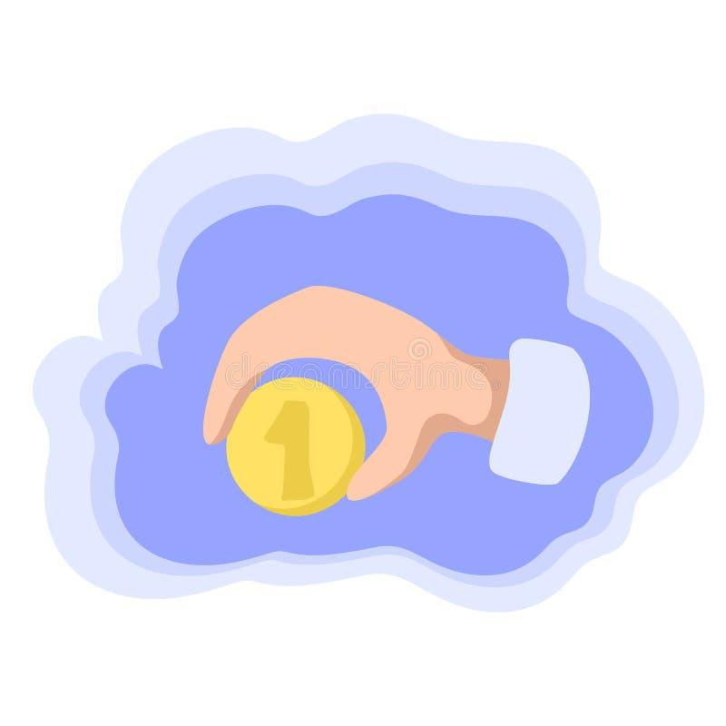 Une pièce de monnaie disponible Argent enregistrant l'icône colorée de vecteur Un paiement du dollar Concept bon marché des prix  illustration libre de droits