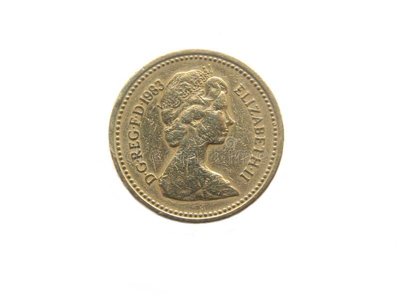 Une pièce de monnaie du R-U 1983 de livre image libre de droits