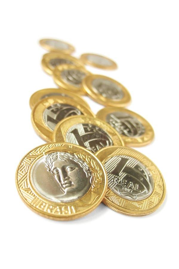Une pièces de monnaie réelles - 3 photo stock